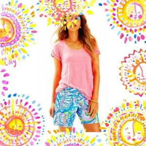 "Lilly Pulitzer NWT Jayne 7"" Shorts Multi Gillty Pleasure $78"