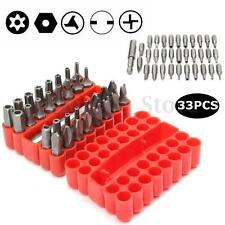 33Pcs Security Bit Set w/Holder Tamperproof Torx Spanner Star Hex Screwdriver