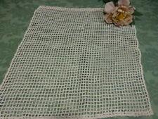 48cmhx46cm   large ancien rideau blanc  fait main coton petite fenétre  pret