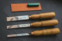 Set of Full-Size Straight Flat Chisels BeaverCraftTool Sets