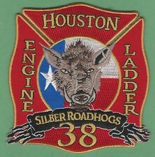 HOUSTON TEXAS FIRE DEPARTMENT STATION 38 COMPANY PATCH ROADHOGS
