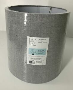 "PROJECT 62 11.5"" Tall Lamp Shade NWT/D Montreal Wren Linen Look Gray"