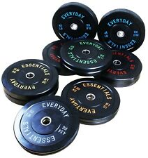 Olympic Bumper Plate Weight Plate w Steel Hub 10 to 55 lbs Black