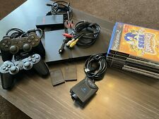 PS2 Slim bundle - incs Console, 2 Controllers, 2 memory cards, 6 games & eye toy