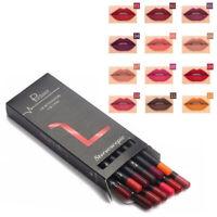 pudaier 12pcs Crayon a levres mat de maquillage Kit cosmetique Levre mate lon 9T