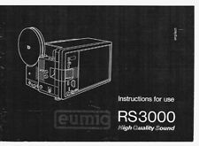Eumig RS 3000 Instruction Manual photocopy