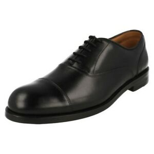 Mens Clarks Formal Oxford Style Lace Up Leather Shoes Coling Boss