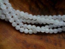 6mm Round Natural Soft White Moonstone Gemstone Beads - Half Strand(31-33pcs)