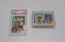 1984 TOPPS TIFFANY MILWAUKEE BREWERS TEAM SET PSA 9 YOUNT w/Traded & LL's