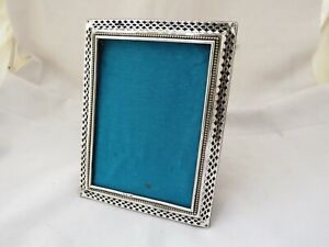 STERLING SILVER PHOTOGRAPH FRAME - BIRMINGHAM 1901 ABLE & CHARNELL - PIERCED