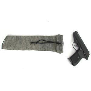 Tourbon Gray Pistol Sock Handgun Sleeve Silicone Treated Straight Tube Style