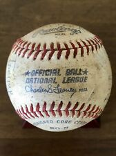 Vintage 1981 Dodgers / Braves Game Used Baseball - Tommy Boggs & Bob Welch