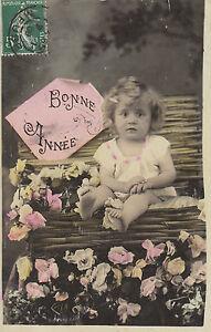 Carte postale fantaisie ancienne carte bonne  année 1909 Commercy