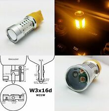 W21W 7442 T20 580 YELLOW 16W HIGH POWER LED REAR INDICATOR CAR BULB A
