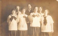 Real Photo Postcard Girl's Women's Basketball Team~126449