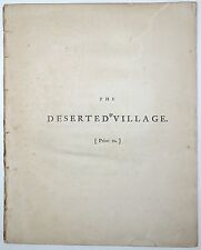 OLIVER GOLDSMITH The Deserted Village A Poem 10th Ed 1783 REMOVED POETRY