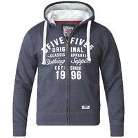 Mens Sweatshirt D555 Duke Big King Sizes Vadal Zip Hoodie Top Fleece Lined New