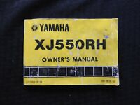 1981 YAMAHA 550 XJ550RH MOTORCYCLE OPERATOR OWNERS MANUAL ACCEPTABLE