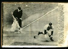 Stan Hack & Red Rolfe Game 2 1938 World Series Press Photo Cubs Yankees