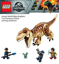 Lego Jurassic World T-Rex Transport  minifigs and dinos! Store Exclusive