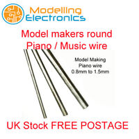 piano wire music wire steel round 0.8mm, 1mm, 1.2mm, 1.5mm, upto lengths 450mm