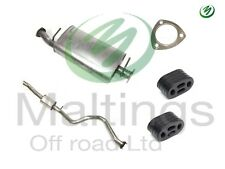 landrover discovery td5 exhaust system middle + back inc fitting kit 98-04