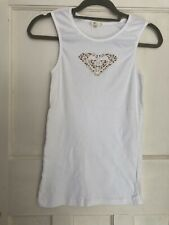 Roxy Girl White Logo T Shirt XL New Without Tags