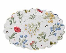 Park Designs Wildflower Oval Place Mat Set of 6 Quilted Table Mat