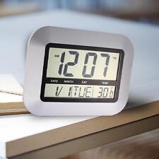 La Crosse Technology Atomic Digital Home Decor Wall Clock w/ Indoor Temperature