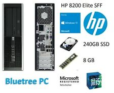 HP 8200 Elite SFF i5 Quad Core 8GB RAM 240GB SSD Win10 Desktop Computer PC