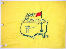 ZACH JOHNSON Signed - 2007 MASTERS (WINNER) - Golf Flag GLOBAL