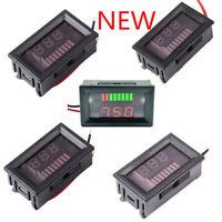 Charge Level Red/Blue Indicator Voltmeter 6/12/24/36/48V Lead-acid Battery ATF