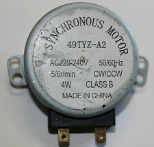 Microwave Turntable Synchronous Motor 49TYZ-A2 220-240VOLT  50/60Hz 4W 5/6 r/min
