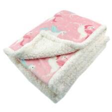 "Sherpa Throw Blanket Super Soft Warm Luxurious Fleece Blanket 50""x60"" Pink"