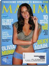 Maxim 158 - 2011, February - How to Improve The Super Bowl, Olivia Munn