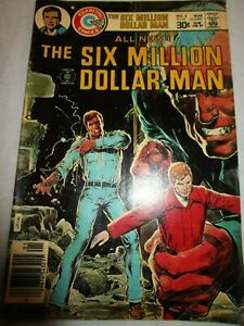 Charlton Comics Group The Six Million Dollar Man August 1976 No 2 Pre-Owned