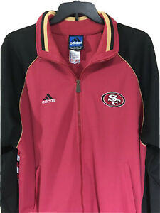 Vintage Adidas 49ers Onfield Jacket New With Tags Full Zipper