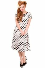 Calf Length Crew Neck Casual Spotted Dresses for Women
