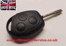 Genuine Ford Mondeo Focus Transit 3 Button Remote Key Blade Transponder ID60 T7