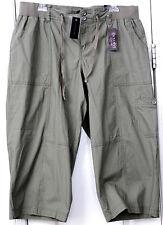 Woman's Size 16 Olive Green Cotton crop Pants by Lane Bryant NWT
