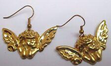 Bijou boucle d'oreille bijou angelot boudeur en relief couleur or 3315