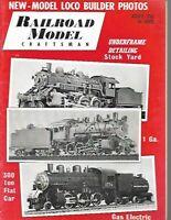 RAILROAD MODEL CRAFTSMAN MAGAZINE - August 1962 - Underframe Detailing