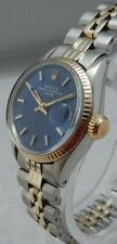 Rolex Datejust 14k/ss Two Tone Gold Ladies Watch Blue Dial & Jubilee Band 1967