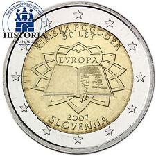 Slowenien 2 Euro Gedenkmünze 2007 bfr. 50 Jahre Römische Verträge