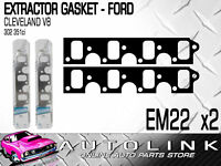 EXTRACTOR GASKET SUIT FORD CLEVELAND V8 302 351 2V - FALCON FAIRLANE MUSTANG x2