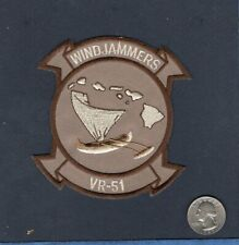 VR-51 WINDJAMMERS US Navy MCAS Kaneohe Bay HI Gulfstream Squadron Jacket Patch