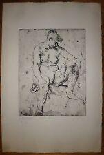 Jean Carton gravure originale signée Londres, Amsterdam, Bruxelles, Le Caire USA