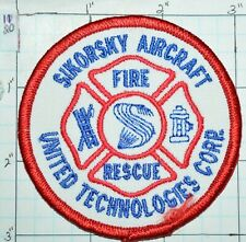 Sikorsky Aircraft Connecticut Helicopters United Technologies Fire Rescue Patch