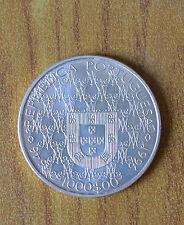 MONETA 1000 ESCUDOS REPUBLICA PORTUGUESA PADROEIRA 1996 ARGENTO 500 SUBALPINA