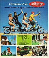 PUBLICITE ADVERTISING 054  1973  LA HUTTE  portique toboggan tennis de table